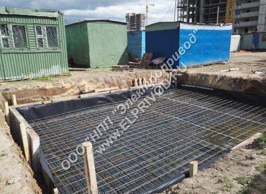 Производство бетонной подстанции