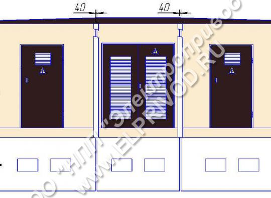Размеры  КТП на два трансофрматора