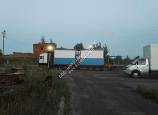 Транспортировка на трале блок-контейнеров